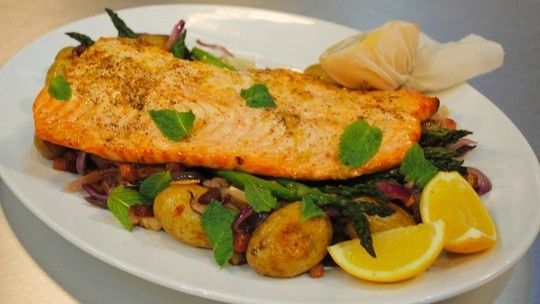 Good Friday fish feast - oven roasted salmon