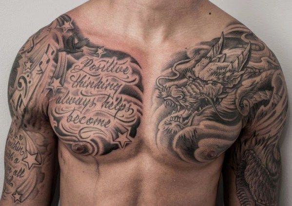 50 Best And Awesome Chest Tattoos For Men Tattoos Me Cool Chest Tattoos Chest Tattoo Men Chest Tattoo