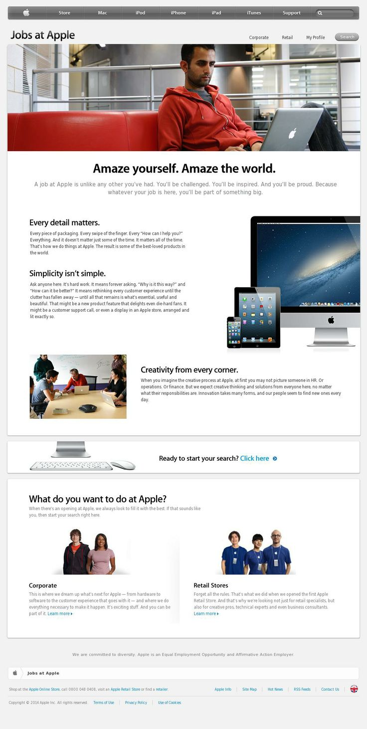 1000 images about industry websites admin jobs the apple careers website reflects their brand and maintain a standard of quality that matches up