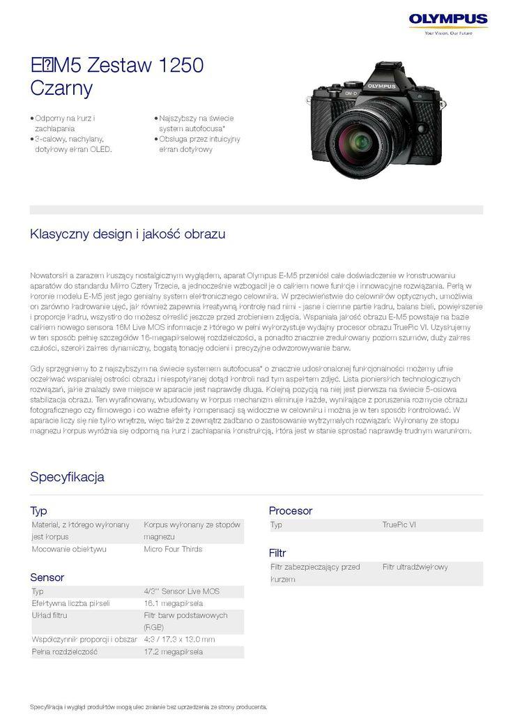 Olympus OM-D E-M5 // specyfikacja 1/8 // http://bit.ly/OM-D_E-M5_pl