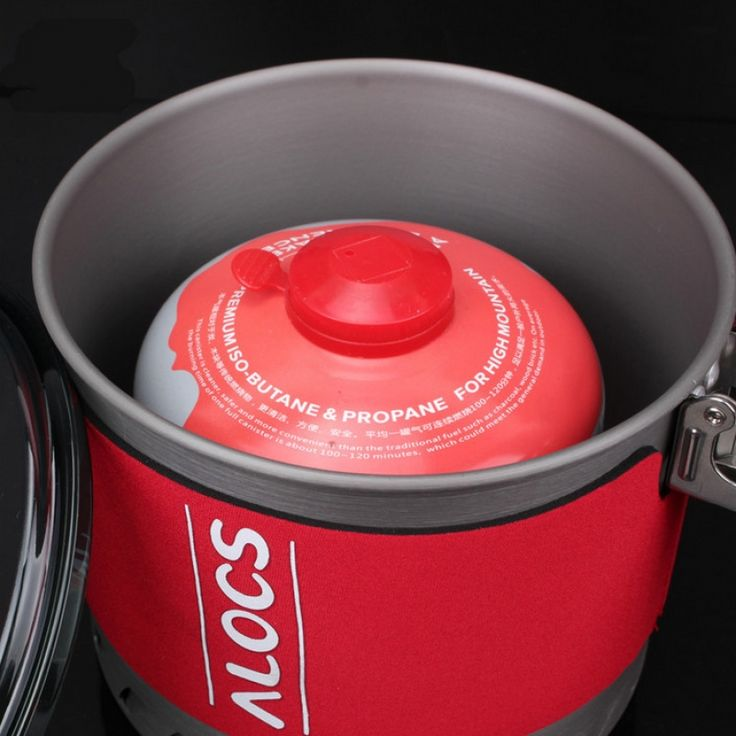 Alocs CW-S11 3-4 Person Fast-Heating Pot Camping Picnic Jacketed Kettle Cookware 2L  sports outdoor fishing camping hiking