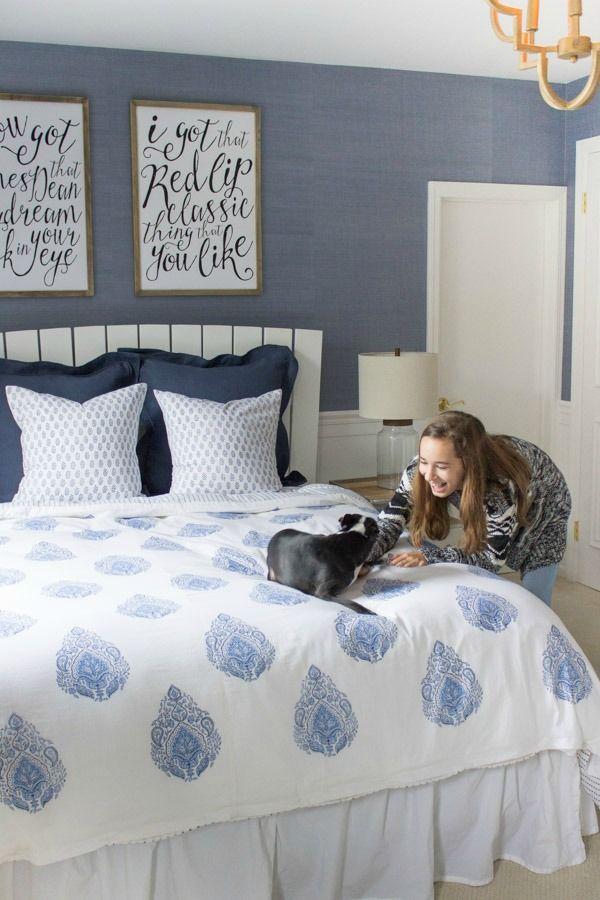 Reveal of modern coastal teen bedroom
