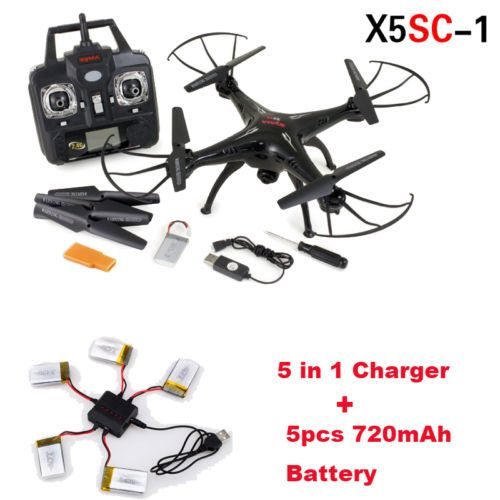 New Syma X5SC-1 Quadcopter Dron FPV w/HD 2MP Camera+5 Pcs 720mAh Battery+Charger – szook24.com