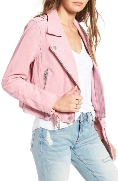 BLANKNYC Morning Suede Moto Jacket available at #Nordstrom