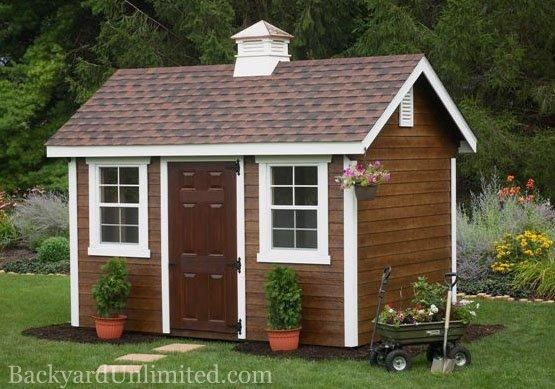 8 39 X12 39 Garden Shed With Lap Siding Cupola Mushroom Stain