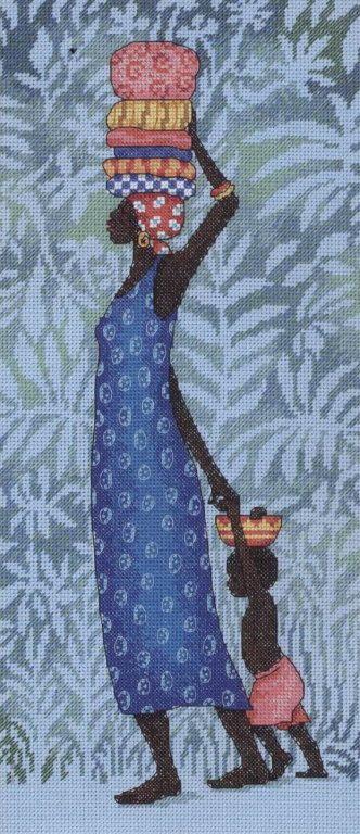 GRAFICOS PUNTO DE CRUZ GRATIS : AFRICANAS(21)