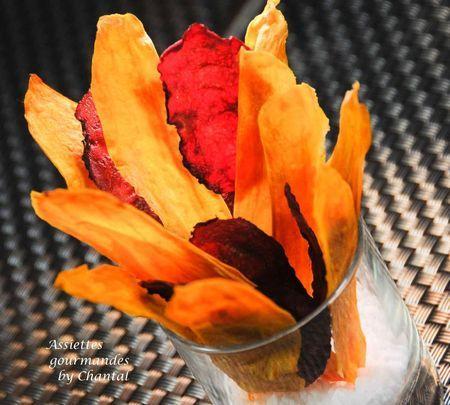 Chips de patate douce et betterave… au micro-ondes |