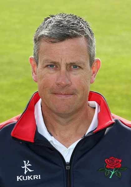 Ashley Giles Photos Photos - Head Coach Ashley Giles poses during the Lancashire CCC  Photocall at Old Trafford on April 10, 2015 in Manchester, England. - Lancashire CCC  Photocall