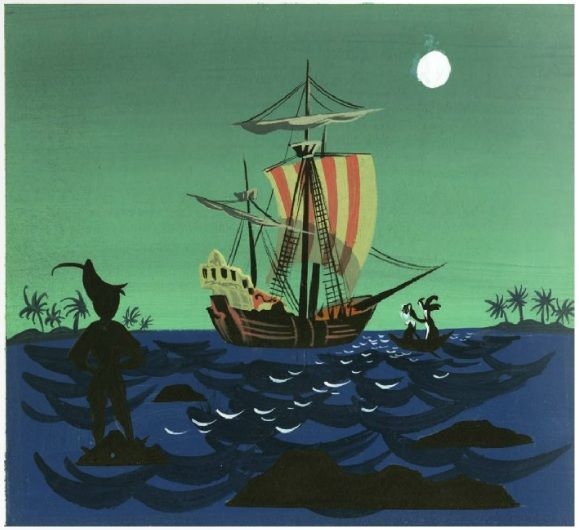 Mary Blair Peter Pan Concept Art