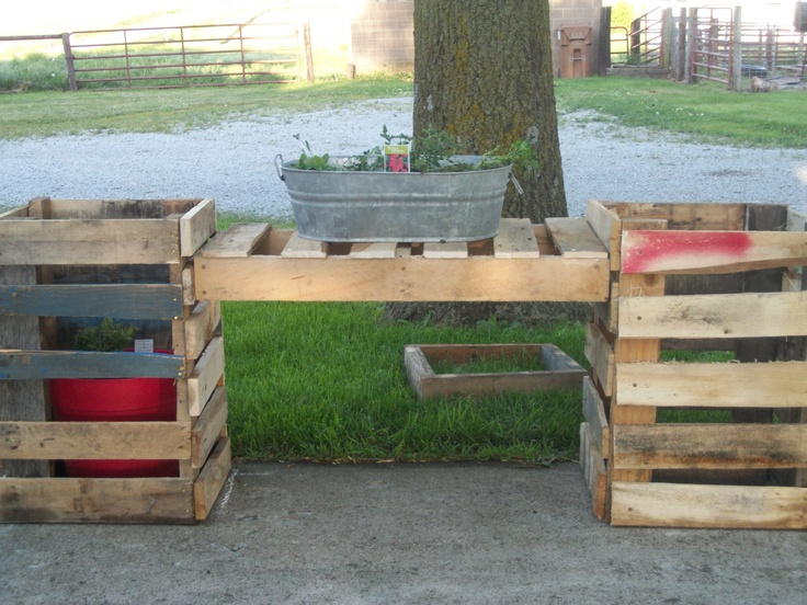Planter out of pallets funny pinterest pallets and for Planters made out of pallets