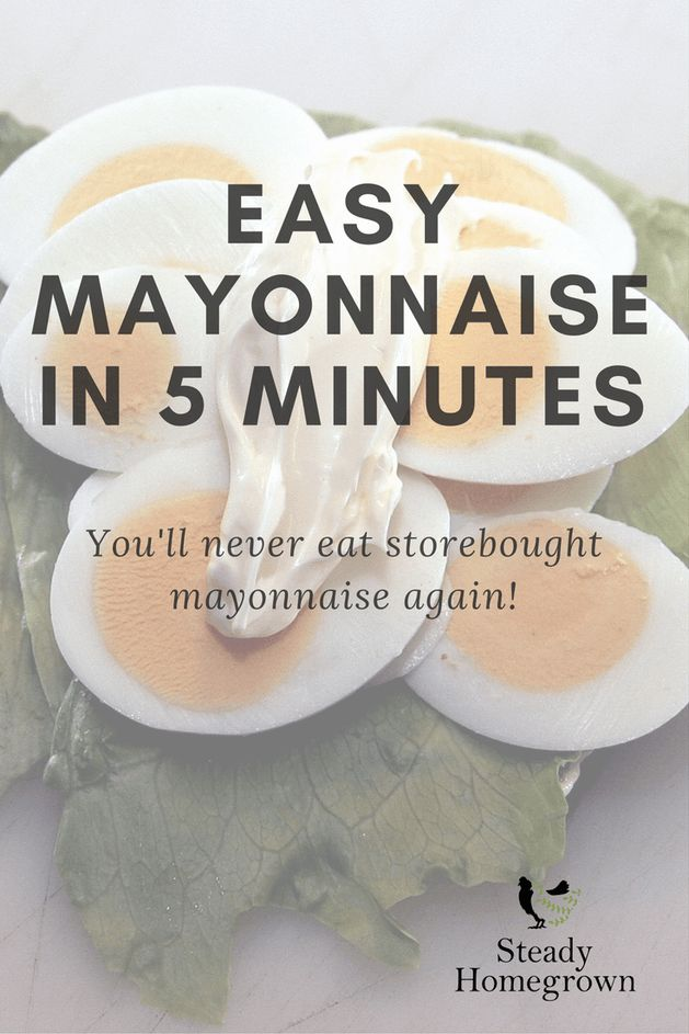 Easy, delicous, real mayonnaise in 5 minutes with a hand-held blender!