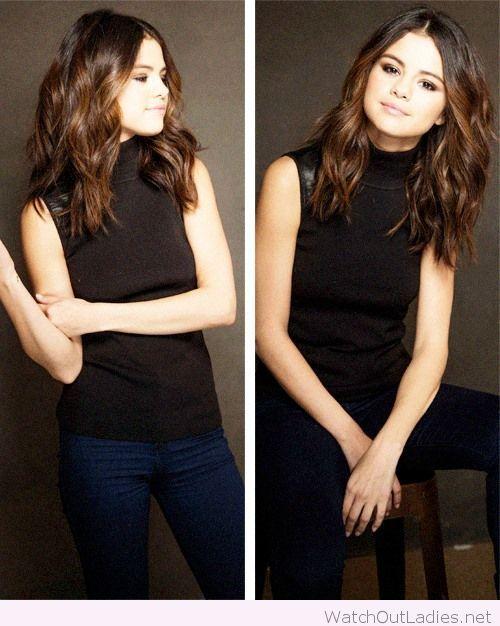 Amazing and sweet Selena Gomez medium length hair