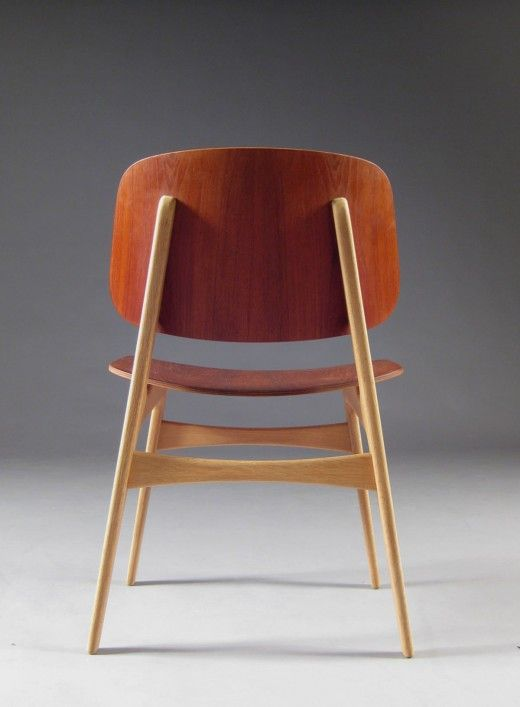 Søborg Chair In Teak Designed By Børge Mogensen In 1950 With The Intention  To Fuse Plywood Shells With His Signature Solid Wood Functionalism.