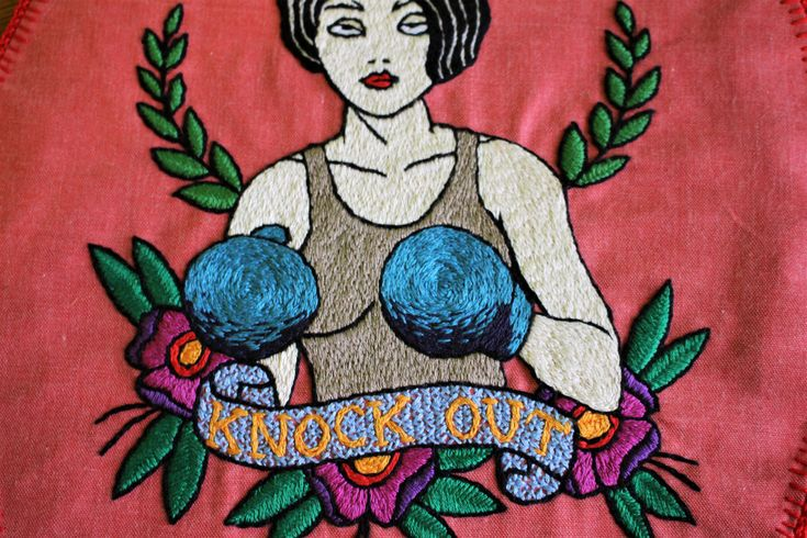 Handmade oldschool tattoo designs for those who are afriad of needles or would like to put the ink in less obvious place. Embroidered, cross stitched, trying various technics. Many classics themes - anchors, marmaids, pin up, skulls.. #oldschool #tattoo #design, #embroidery, #handmade, #boxing