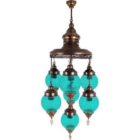 turquoise chandelier light fixture google search - Turquoise Chandelier Light