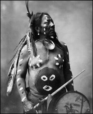 1899 Last Horse, Sioux indian with full war paint.