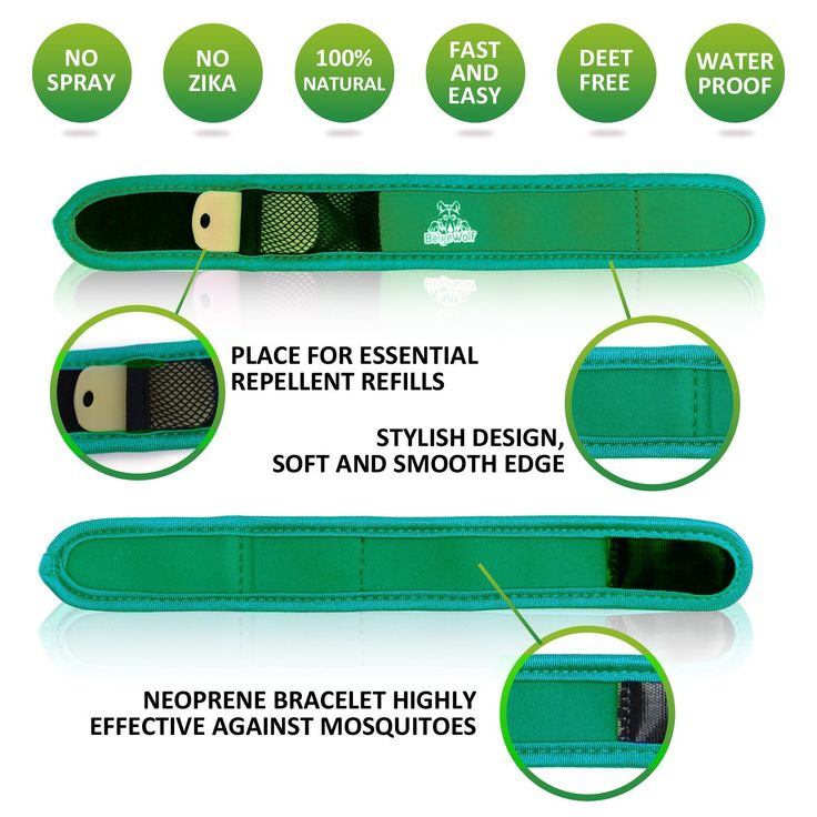 Amazon.com : Natural Mosquito Repellent Bracelet with 4 Refills by BeigeWolf Uses All-Natural Lavender Oil, Green : Patio, Lawn & Garden