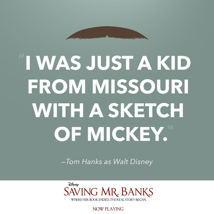 """""""That mouse, he's family."""" See Tom Hanks as Walt Disney in #SavingMrBanks - now playing in theaters everywhere."""