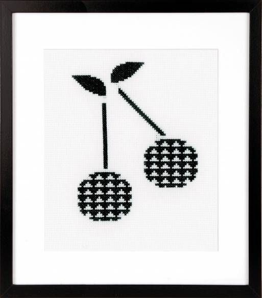 Cherry Cross Stitch Kit £15.50 | Past Impressions | Vervaco