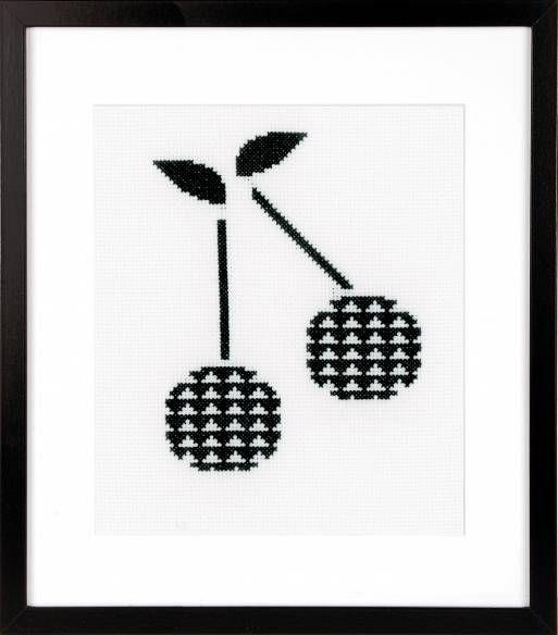 Cherry Cross Stitch Kit £15.50 | Past Impressions | Vervaco