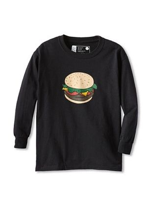 67% OFF Little Dilascia Kid's Burger Long Sleeve Tee (Black)