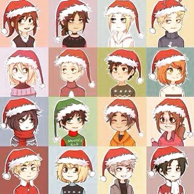 AoT Christmas Chibis