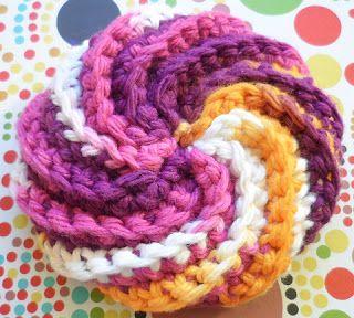 Tricot & crochet: Tawashi en spirale