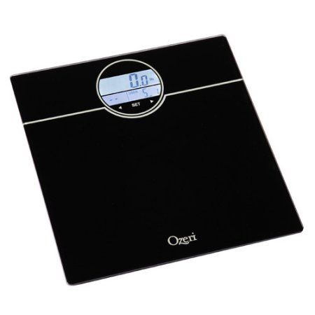 Ozeri WeightMaster 400 lbs Digital Bath Scale with BMI and Weight Change Detection, Black