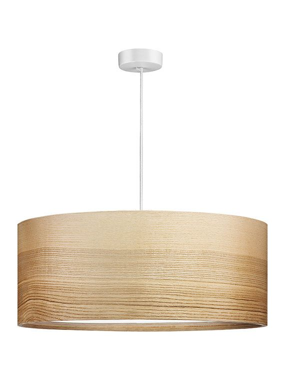 Pendant Lights  Modern Lamp  Natural Ash Shade  by Sponndesign