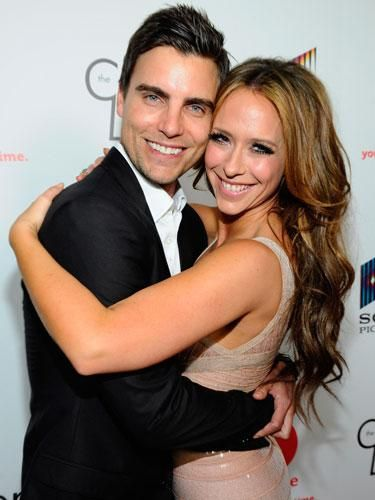 """Colin Egglesfield and Jennifer Love Hewitt at the launch party for """"The Client List."""""""