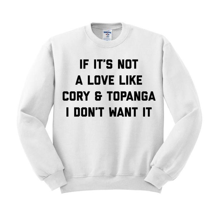 手机壳定制air jordan flight  high grey Cory And Topanga Love Crewneck Sweatshirt