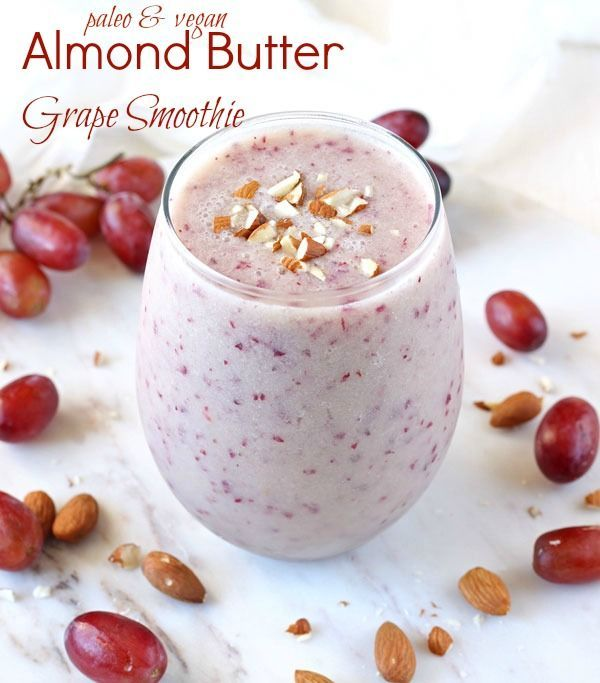 Almond Butter Grape Smoothie [Vegan and Paleo]