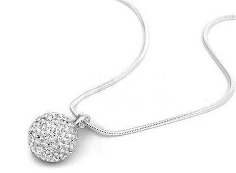 Infinity Shamballa Ball Necklace Silver