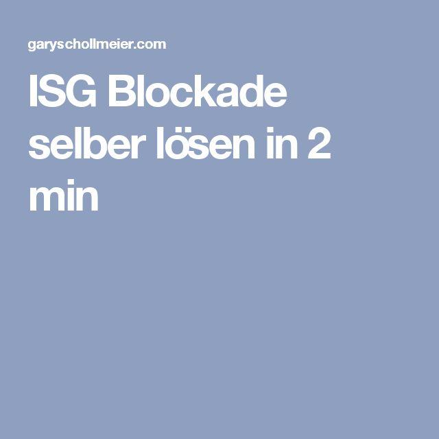 ISG Blockade selber lösen in 2 min