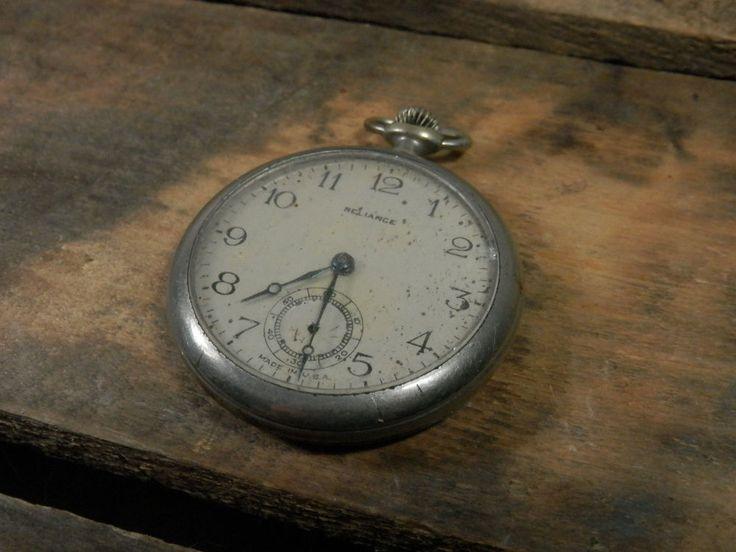 Vintage Ingersoll Reliance Pocket Watch Usa Mechanical