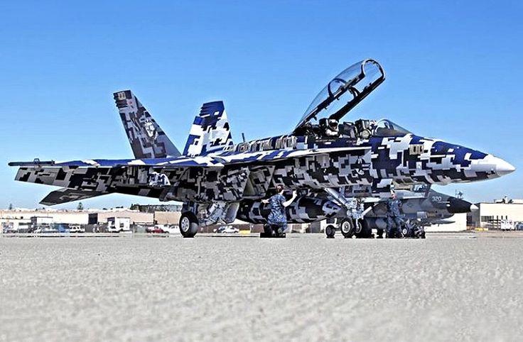 Wild paint scheme on this F-18 Hornet.