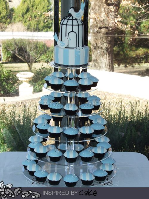 Inspired by Cake: Bird Cage Inspired Wedding Cupcake Tower!