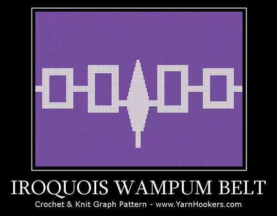 Iroquois Wampum Belt Indian Mohawk Afghan by YarnHookers