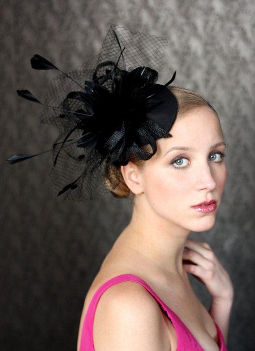Chapeau de mode. Chapeau de drby de Kentucky.  mariage BIRDCAGE voile, Bibi de mariée, bandeau de mariée vintage style Bridal Coctail Derby Kentucky Hat