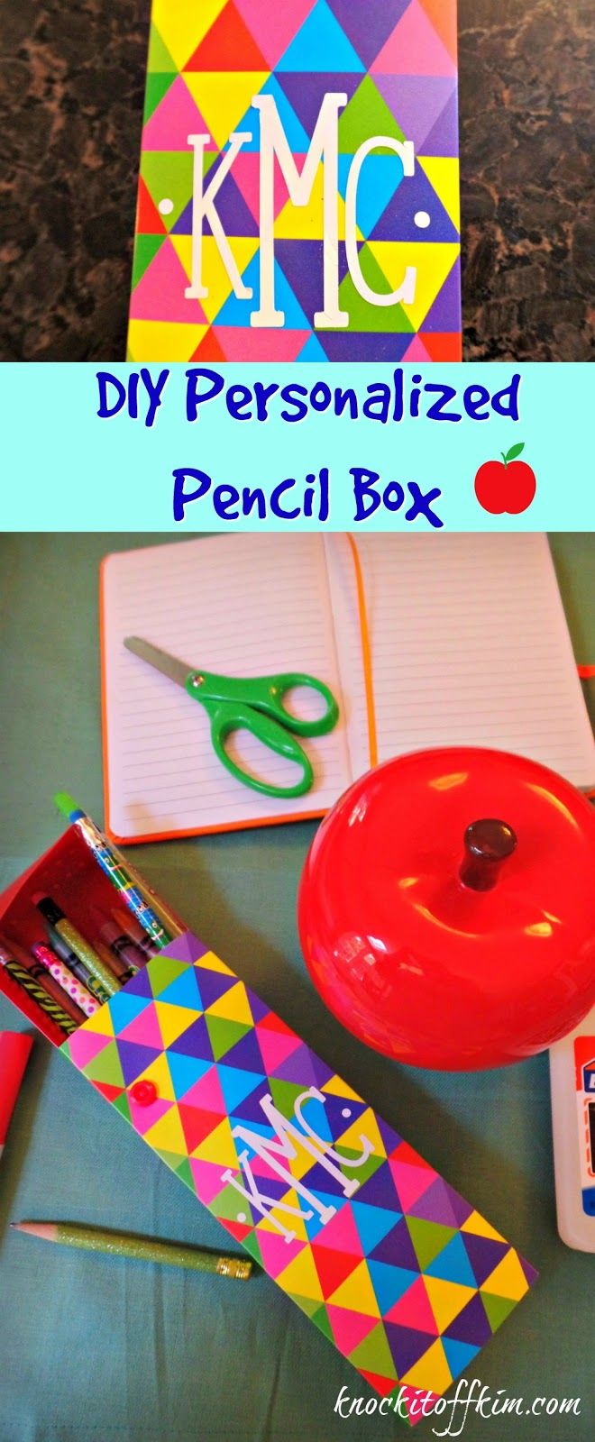 A short tutorial on how to personalize your school supplies using vinyl and a…