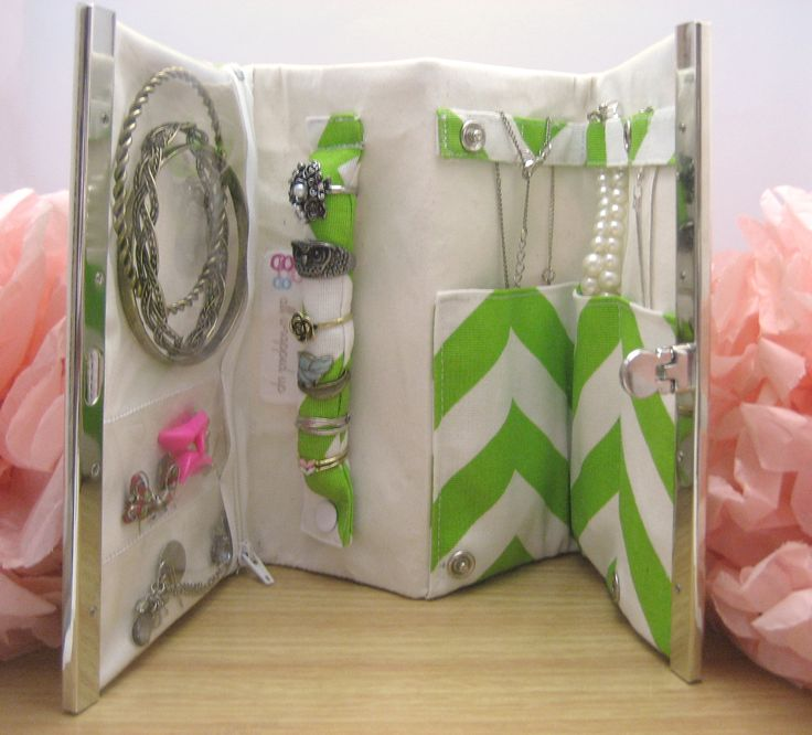 UGH why couldn't I have found this with time to make it for vacation?! All wrapped up: Jewellery Organiser Clutch