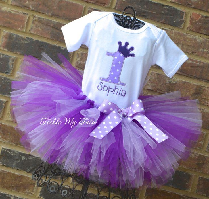 Púrpura pasión princesa corona cumpleaños Tutu morado traje