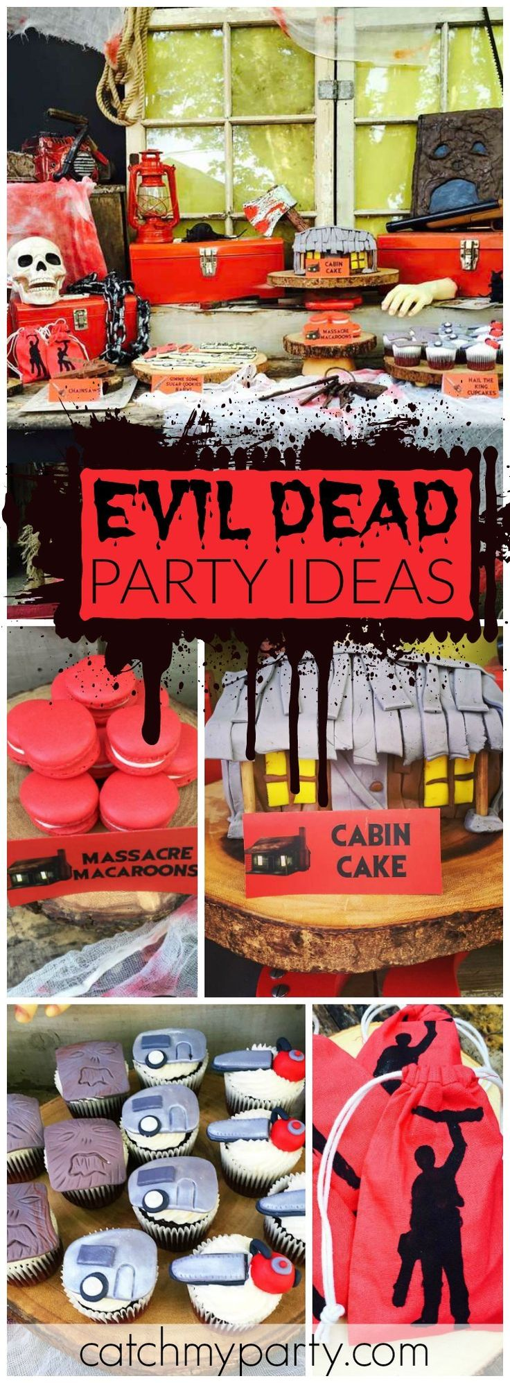 What a creepy and cool Evil Dead themed birthday party! See more party ideas at CatchMyParty.com!