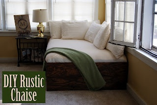 DIY Extra Large Rustic Chaise using a futon mattress.