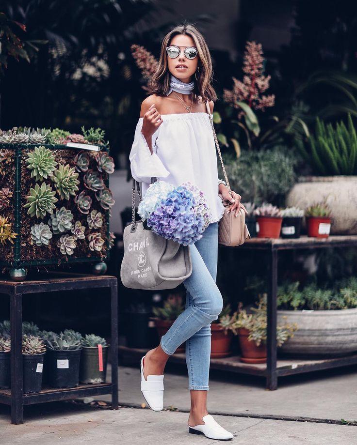 "10.2 mil Me gusta, 123 comentarios - Annabelle Fleur (@vivaluxuryblog) en Instagram: ""Off-duty denim ✔️ ft my favorite comfortable styles with Tencel to wear now | #ootd deets up on my…"""