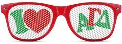 Alpha Gamma Delta Wayfarer Style Lens Sunglasses SALE $12.95. - Greek Clothing and Merchandise - Greek Gear®