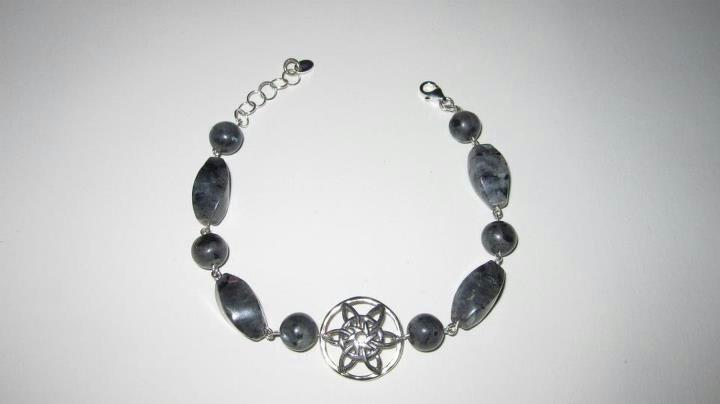 Bracciale in argento e larvikite www.facebook.com/VioletArtBijoux