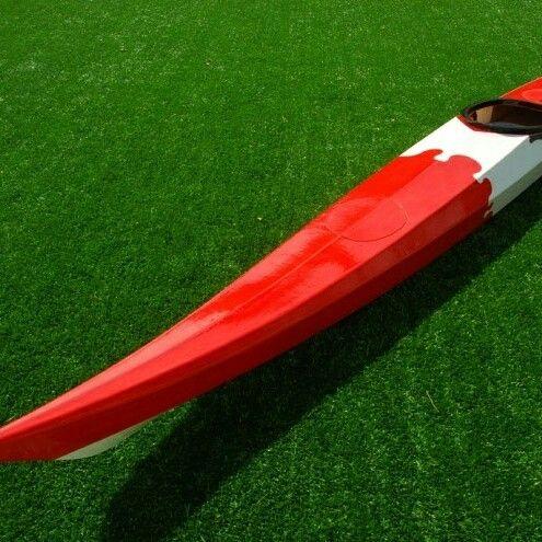 Wooden kayak nightheron