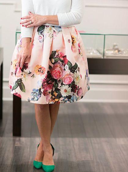 Floral Fashion -- flower skirt