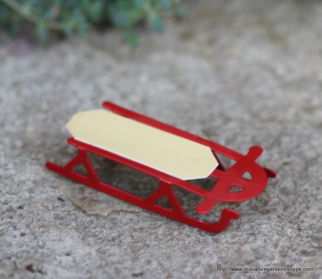 Miniature Toy Sled